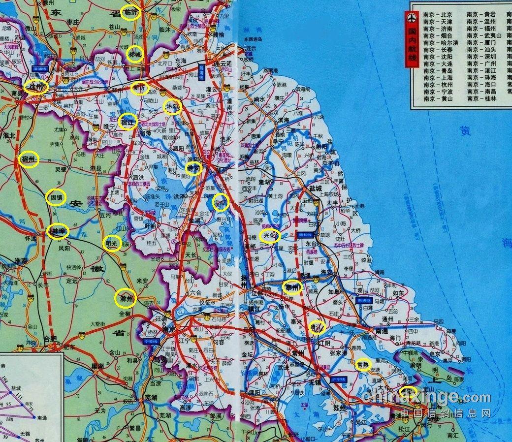 上海市信鸽参赛信鸽飞行轨迹初探(二); 口布袋(请参阅地图)