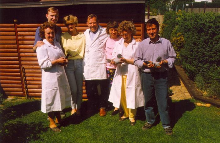 L-R: Eveline, Luc en Monique, Jef, Cindy, Nadia en Robert