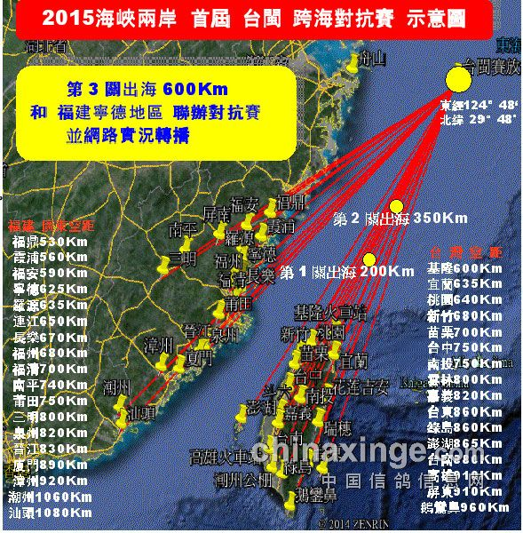 海峡两岸900公里跨海赛:台湾地区规程出炉